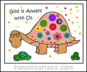 """God is Always with Us"" Coloring and Activity Sheet for Moses Bible Lesson from ww.daniellesplace.com"