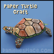 Paper Turtle Craft for Childrens Ministry
