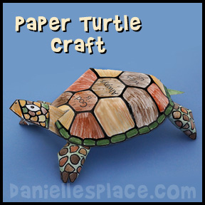 Turtle Paper Craft for Moses in the Desert from www.daniellesplace.com