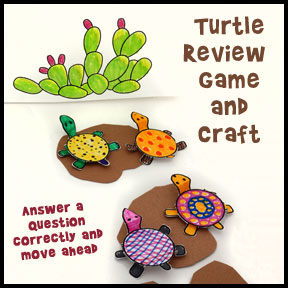 Turtle Bible lesson review game from www.daniellesplace.com