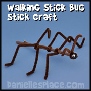 Insect Craft - Walking Stick twig Craft from www.daniellesplace.com