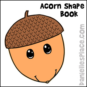 Acorn Shape Book Learning Activity for Children from www.daniellesplace.com