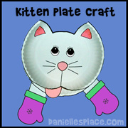 Cat Craft - Cat Paper Plate Craft from www.daniellesplace.com