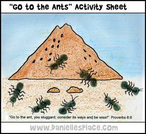 Ant Bible Verse Activity Sheet