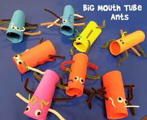 Big Mouth Tube Ant Craft from www.daniellesplace.com