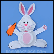 Bunny Craft - Easter Bunny Paper Plate Craft from www.daniellesplace.com