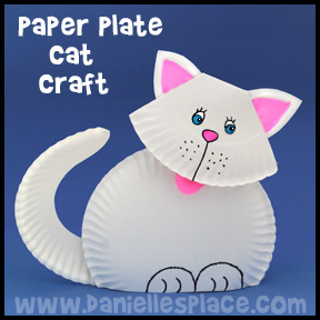 Cheshire Cat Paper Plate Craft