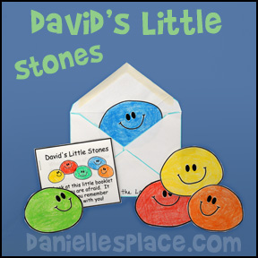 David's Little Stones Printable Booklet  Craft for Children from www.daniellesplace.com