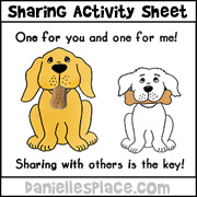Friends Share Activity Sheet for Sunday School  from www.daniellesplace.com