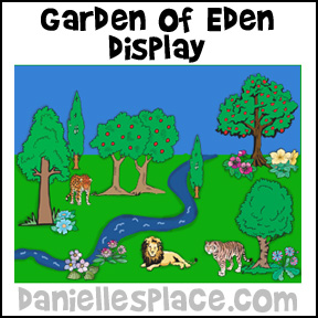 Adam and Eve Garden of Eden Bulletin Board Sheet from www.daniellesplace.com