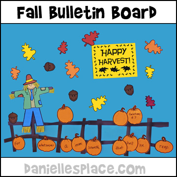 Happy Harvest Bulletin Board Display from www.daniellesplace.com