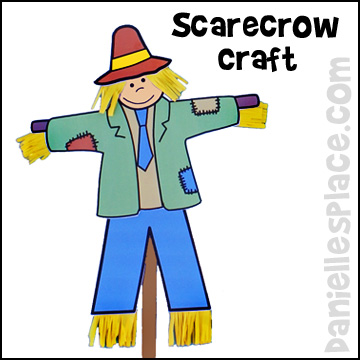 Scarecrow paper craft from www.daniellesplace.com