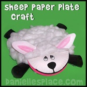 Paper Plate Lamb Craft from www.daniellesplace.com