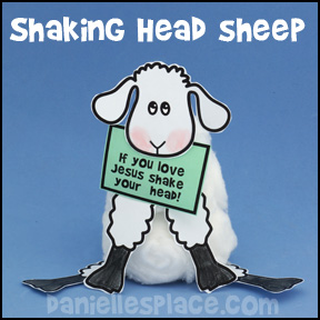 Sheep Shaking Head Craft from www.daniellesplace.com
