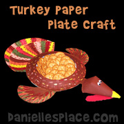 Turkey Paper Plate Thanksgiving Craft for Kids from www.daniellesplace.com