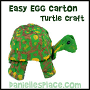 Egg Carton Tortoise Craft for Childrens Ministry and Sunday School from www.daniellesplace.com