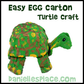 Egg Carton Tortoise Craft