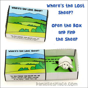 """Where's the Lost Sheep"" Match Box Craft from www.daniellesplace.com"