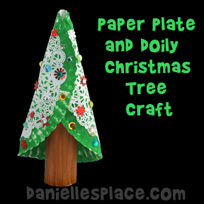 Christmas Craft - Paper Plate and Doily Christmas Tree Craft from .daniellesplace.com  sc 1 st  Danielleu0027s Place & Christmas Crafts for Kids