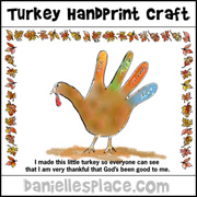 Thanksgiving Poem Craft from www.daniellesplace.com