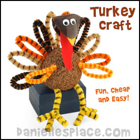 Turkey Craft for Thanksgiving from www.daniellesplace.com