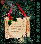"Bible Scroll Christmas Ornament Craft for Kids from www.daniellesplace.com for Sunday School lesson ""Isaiah Predicts Jesus' Birth"