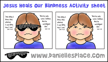 Jesus Heals My Blindness Craft And Activity Sheet From Daniellesplace
