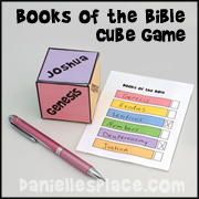 Review the Books of the Bible Cube Game from www.daniellesplace.com