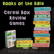 Books of the Bible Cereal Box Review Games from www.daniellesplace.com