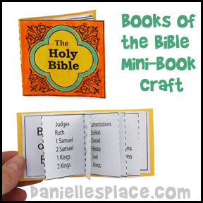 Books of the bible crafts and games for children 39 s ministry for Art and craft books for kids
