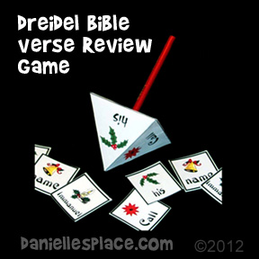 Dreidel Bible Verse Memory Game from www.daniellesplace.com