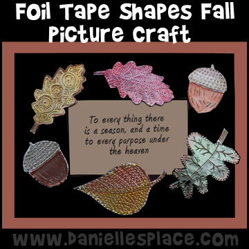 Fall  Foil Leaf Tape Picture Craft for Kids from www.daniellesplace.com