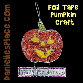 Pumpkin Craft - Foil Tape Pumpkin Craft from www.daniellesplace.com