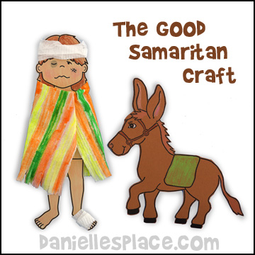 Hurt Man Paper Doll for The Good Samaritan Bible Lesson from www.daniellesplace.com