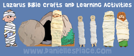 Lazarus Bible Crafts and Learning Activities