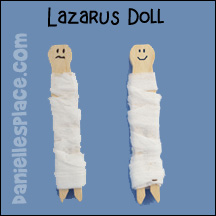 Lazarus Clothespin Dolls Bible Craft for Sunday School from www.daniellesplace.com