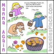 Manna Again Color and Activity Sheet