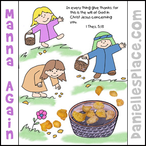 Manna Again Coloring and Activity Sheet from www.daniellesplace.com