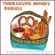 Thanksgiving Basket Craft from www.daniellesplace.com