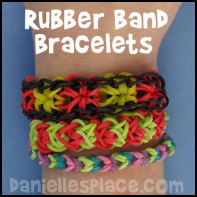 Rubber Band Bracelets from www.daniellesplace.com