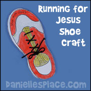 Running for Jesus Shoe Bible Craft for Sunday School from www.daniellesplace.com