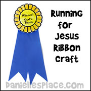Running for Jesus Ribbon Bible Craft for Sunday School from www.daniellesplace.com