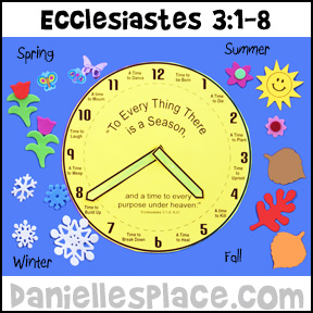 Ecclesiastes 3:1-8 Bible Activity Sheet for Sunday School from www.daniellesplace.com