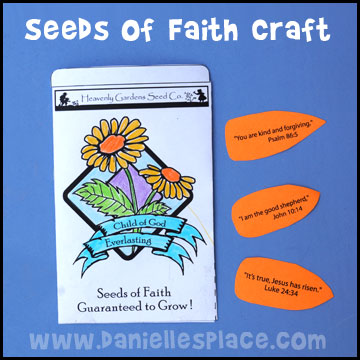 Seeds of Faith Craft and Review Game from www.daniellesplace.com