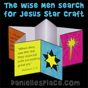 The Wise Men Search for Jesus Star-Shaped Book Craft