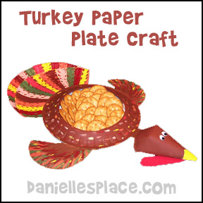 Thanksgiving Turkey  Paper Plate Craft from www.daniellesplace.com