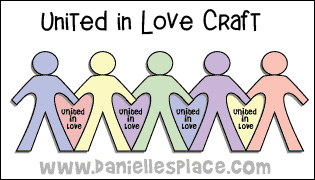 United in Love Paper Chain Paper Doll Bible Craft from www.daniellesplace.com