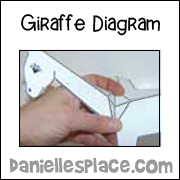 folded paper giraffe craft diagram 3 www.daniellesplace.com