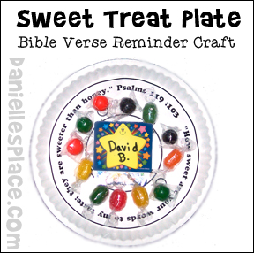sunday school sweet treat plated bible craft