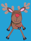marschmallow reindeer Christmas craft